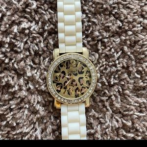 Accessories - White cheetah watch